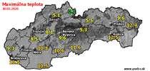 Maximálna teplota - dnes (30.03.2020)