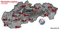 Maximálna teplota - dnes (31.07.2020)