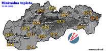 Minimálna teplota - dnes (31.08.2020)