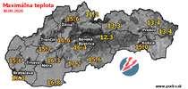 Maximálna teplota - dnes (30.09.2020)
