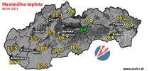 Maximálna teplota - dnes (06.04.2021)