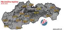 Maximálna teplota - dnes (30.04.2021)