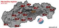 Maximálna teplota - dnes (30.07.2021)