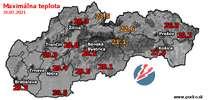 Maximálna teplota - dnes (31.07.2021)