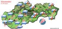 Predpoveď počasia na zajtra (01.08.2021)