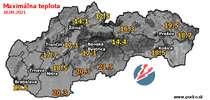 Maximálna teplota - dnes (18.09.2021)