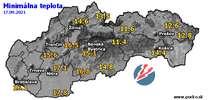 Minimálna teplota - dnes (17.09.2021)